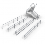 Download CAD files for TUFFRAIL® – INDUSTRIAL GUARDRAILS