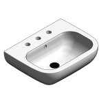 Download CAD files for Ceramic Hand Basin – BSW-WB550