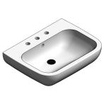 Download CAD files for Ceramic Hand Basin – BSW-WB650