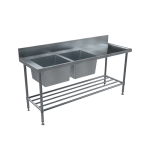 Download CAD files for BenchTech Double Sink Bench – DSB L/H Bowl