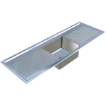 Download CAD files for Laboratory Sink-Single Centre Bowl – LSSCB