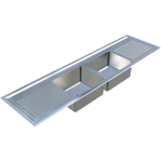 Download CAD files for Laboratory Sink-Twin Centre Bowl – LSTCB