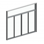 Download CAD files for Commercial Series 442 Sliding Door