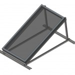 Download CAD files for BT & NPT200 Solar Collector Single on Frame