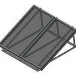 Download CAD files for BT & NPT200 Solar Collector Double on Frame