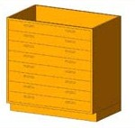 Download CAD files for Base Cabinet-8 Drawers
