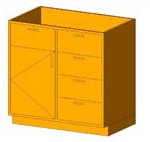 Download CAD files for Base Cabinet-Combo02