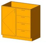 Download CAD files for Base Cabinet-Combo03