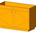 Download CAD files for Base Cabinet-End Sink Unit