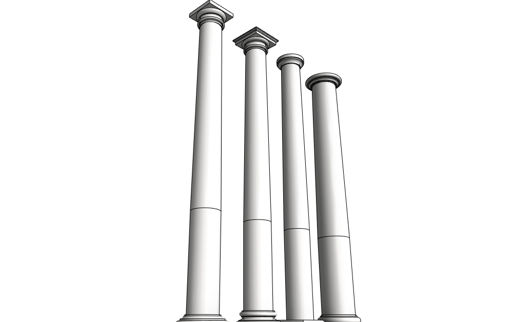 Columns design content for Tapered columns