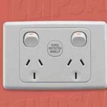 Download CAD files for Power Outlet Double 250V 10A with Surge Protection 2025SF