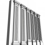 Download CAD files for Uni-Shape Fluted Square Pilaster