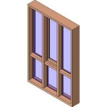 Download CAD files for MERANTI Awning Window Triple Lite