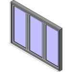 Download CAD files for MERANTI Bi-Fold Door 3-2L1R