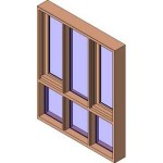 Download CAD files for MERANTI Casement Window 3 Lite