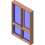 Download CAD files for MERANTI Casement Window DG