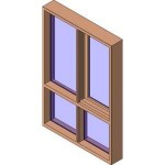 Download CAD files for MERANTI Casement Window Sidelite