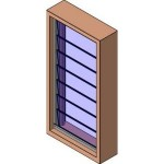 Download CAD files for MERANTI Louvre Window
