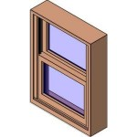 Download CAD files for MERANTI Tilt Double Hung