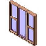 Download CAD files for MERANTI Tilt Double Hung Three Lite