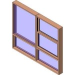Download CAD files for MERANTI Tilt Double Hung Two Lite Lowlite