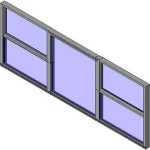 Download CAD files for Designer Double Hung Triple Lite