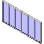 Download CAD files for QLD Alfresco Stacker Doors 6 Panel