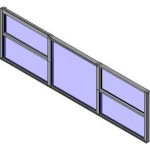 Download CAD files for QLD Designer Double Hung Triple Lite