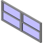 Download CAD files for QLD Wide Style Double Hung Double Lite