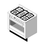 Download CAD files for 900W Built in oven and cooktop