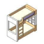 Download CAD files for Childrens Bunk Bed Style 1