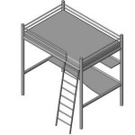 Download CAD files for Bunk Beds