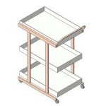 Download CAD files for Medicine Trolley 3 levels