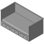 Download CAD files for Youth bed