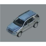 Download CAD files for Mercedes-Benz M-Class