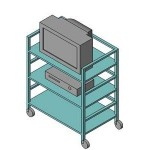 Download CAD files for TV Trolley