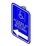 Download CAD files for Disabled sign (Left)