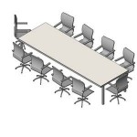 Download CAD files for FURN -_Boardroom_Table_-_10