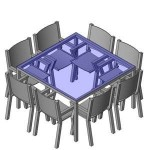 Download CAD files for FURN -_Outdoor_Suite_-_Generic_-_8_Seats