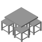 Download CAD files for FURN -_Outdoor_Suite_-_Toyko_Range_-_4_Seats