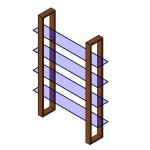 Download CAD files for Glass shelf1