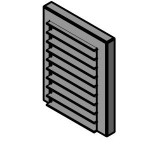 Download CAD files for Horizontal recessed shelf