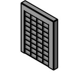 Download CAD files for recessed shelf