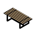 Download CAD files for Park Bench