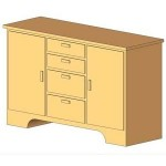 Download CAD files for Sideboard