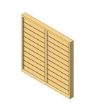 Download CAD files for 2 Bay Louver window
