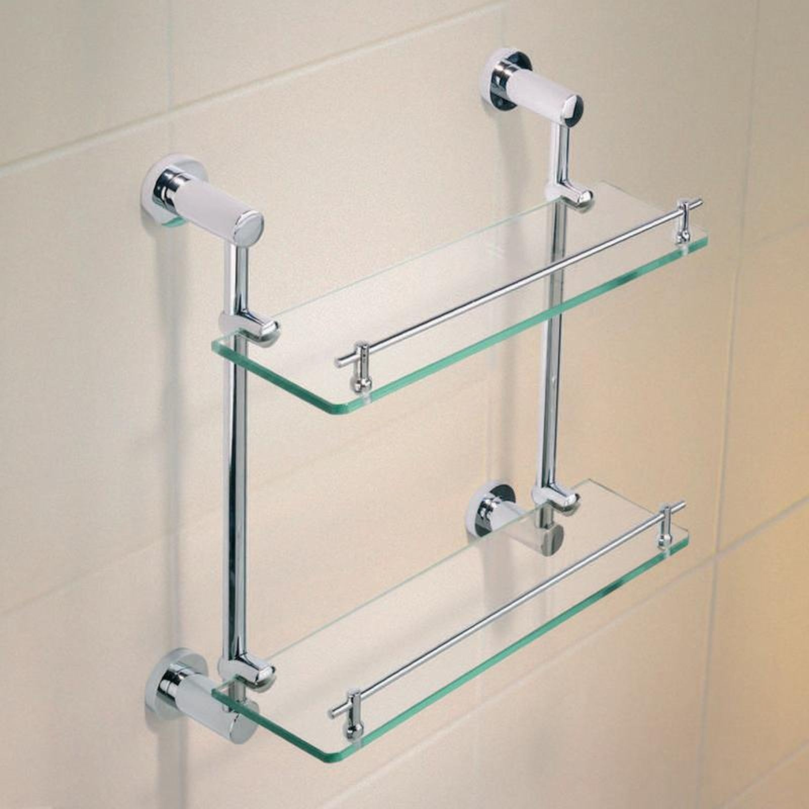 Caroma Cosmo Double Glass Shelf