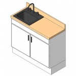 Download CAD files for AU Sink cabinet