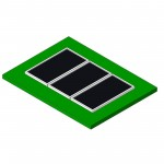 Download CAD files for AU Solar HW Beasley SP2000 panels x3