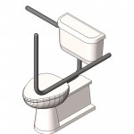 Download CAD files for AU Toilet Handicapped 3d